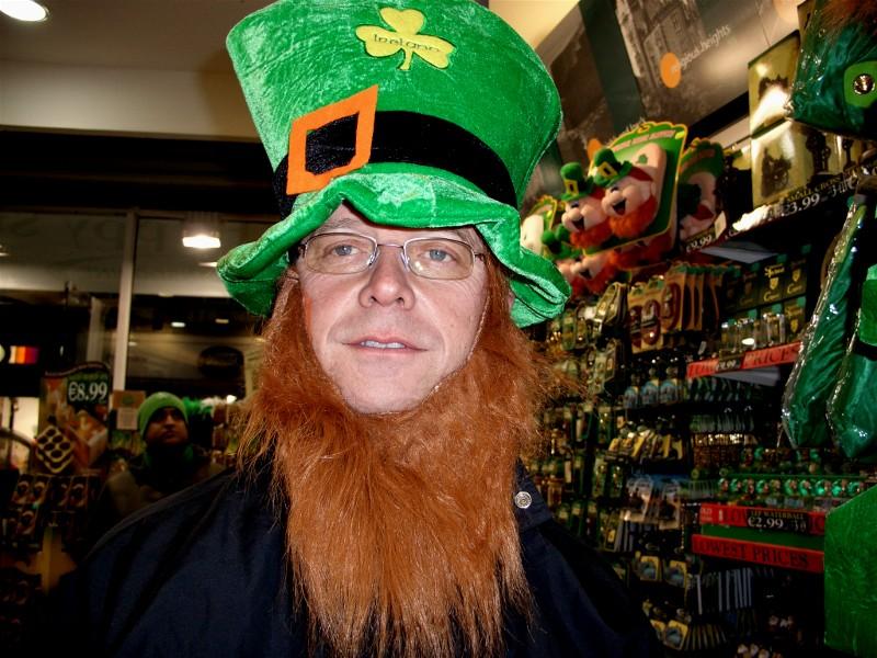 Er man i Irland,- ja da er det greit å være Ire,- slik som Ole Jørgen her.